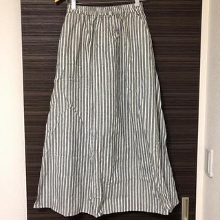 ジーユー(GU)のGU ストライプロングスカート Mサイズ 美品(ロングスカート)