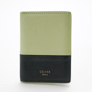 セリーヌ(celine)のセリーヌ【CELINE】バイカラー レザー カードケース(名刺入れ/定期入れ)