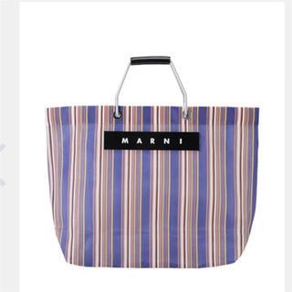 Marni - マルニ マルニフラワーカフェ ストライプトートバッグ バッグ 新品 トートバッグ