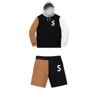 Supreme - Supreme S logo Colorblocked 上下セットアップ