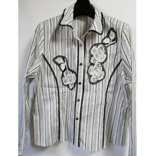 L デザインシャツ 長袖(シャツ/ブラウス(長袖/七分))