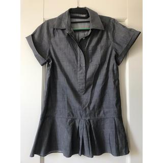 スコットクラブ(SCOT CLUB)のグレーのシャツ  半袖 日本製 (シャツ/ブラウス(半袖/袖なし))