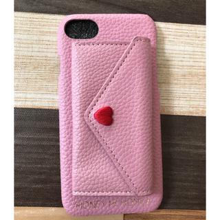 ハニーミーハニー(Honey mi Honey)のポケット付きスマホケース ピンク(iPhoneケース)