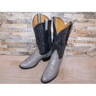 トニーラマ(Tony Lama)のトニーラマ ブルハイド革 ウエスタン グレー×ネイビー 29cm(ブーツ)