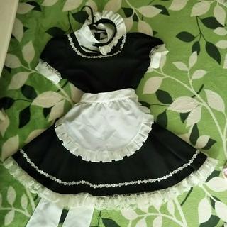 ボディライン(BODYLINE)のメイド服 半袖 カチューシャ&エプロン付き(衣装一式)