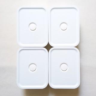 MUJI (無印良品) - 無印良品 ポリプロピレン保存容器になるバルブ付弁当箱 325ml ホワイト 4点