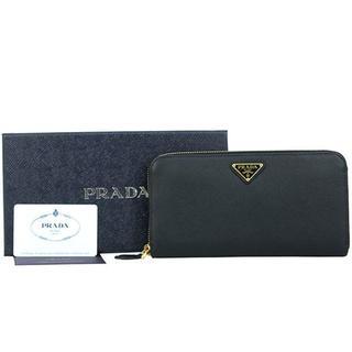 79aee8cdba1b プラダ(PRADA)のプラダ ラウンドファスナー長財布 サフィアーノ トライアングル ブラック(財布)