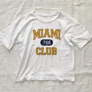 GU - GU◆ロゴワイドTシャツ