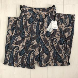 ダブルスタンダードクロージング(DOUBLE STANDARD CLOTHING)のダブスタ ペイズリー柄スリットパンツ(カジュアルパンツ)