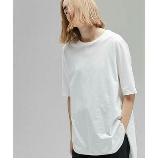 デミルクスビームス(Demi-Luxe BEAMS)の新品タグ付き★ATON ラウンドヘムTシャツ(Tシャツ(半袖/袖なし))