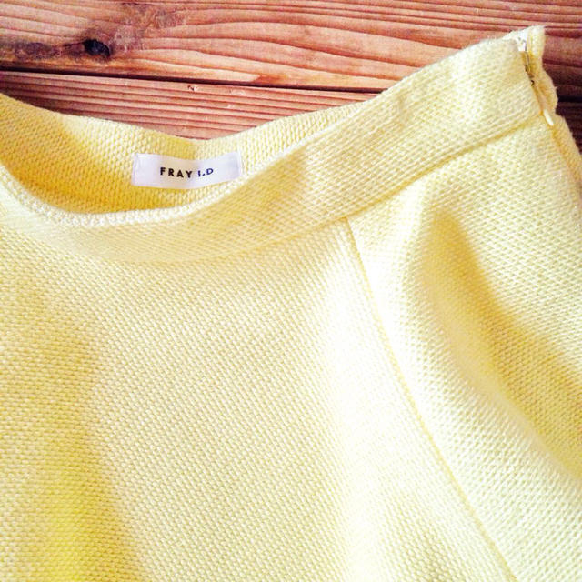 FRAY I.D(フレイアイディー)のフレイ❁イエローフレアスカート レディースのスカート(ひざ丈スカート)の商品写真