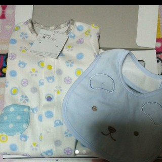 mikihouse - 赤ちゃんの城 スタイ ツーウェイドレス セット