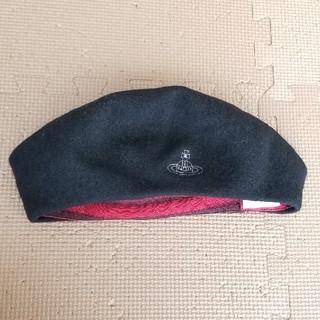 ヴィヴィアンウエストウッド(Vivienne Westwood)のヴィヴィアンウエストウッドviviennewestwood黒ベレー帽(ハンチング/ベレー帽)