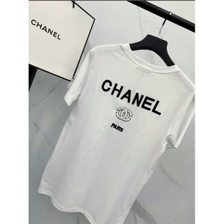 CHANEL - CHANEL ロゴ刺繍 男女兼用Tシャツ 半袖 カジュアル