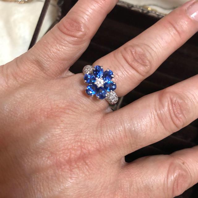 PonteVecchio(ポンテヴェキオ)のポンテヴェッキオブルーサファイアダイヤモンドリング3カラットUP レディースのアクセサリー(リング(指輪))の商品写真