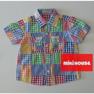 mikihouse - MIKI HOUSE パッチワーク半袖シャツ