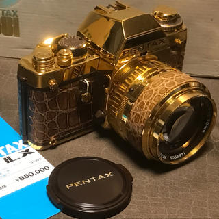 PENTAX - ペンタックスPENTAX LXゴールド純金24K表面仕上ワニ革貼り一眼レフカメラ