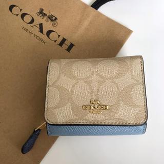 COACH - 美品 COACH コーチ コンパクト 財布 折りたたみ
