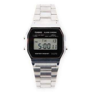 カシオ(CASIO)の未使用 CASIO STANDARD A158WEA-1JF シルバー/ブラック(腕時計(デジタル))
