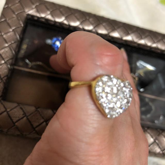 PonteVecchio(ポンテヴェキオ)のポンテヴェキオ 1.8カラットハートダイヤパヴェリング 値下げ レディースのアクセサリー(リング(指輪))の商品写真