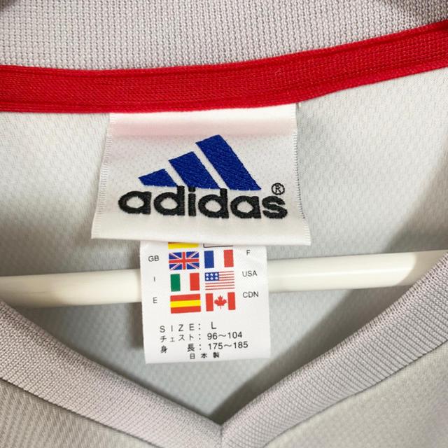 adidas(アディダス)の★未使用★サッカー日本代表 ユニフォーム アウェイ アディダス 白  スポーツ/アウトドアのサッカー/フットサル(ウェア)の商品写真