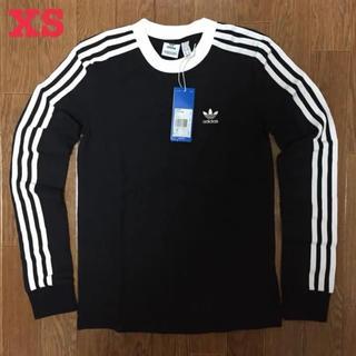 アディダス(adidas)のアディダス オリジナルス 3ストライプス 長袖 Tシャツ 黒 XS(Tシャツ(長袖/七分))