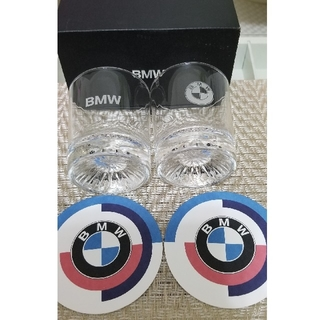 ビーエムダブリュー(BMW)のBMW   ペアグラス ノベルティ 【新品】 コースター付き(グラス/カップ)
