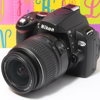 Nikon - ❤️Wi-Fi対応❤️一眼レフカメラに挑戦❤️ニコン D60 レンズセット❤️♪
