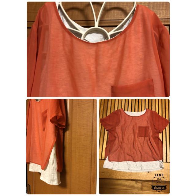 GU(ジーユー)の値下げ!GU  重ね着風トップス❤️ レディースのトップス(シャツ/ブラウス(半袖/袖なし))の商品写真