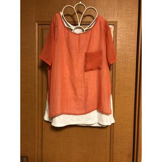 ジーユー(GU)のGU  重ね着風トップス❤️(シャツ/ブラウス(半袖/袖なし))