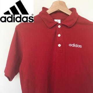 アディダス(adidas)のadidas アディダス 赤 ポロシャツ(ポロシャツ)