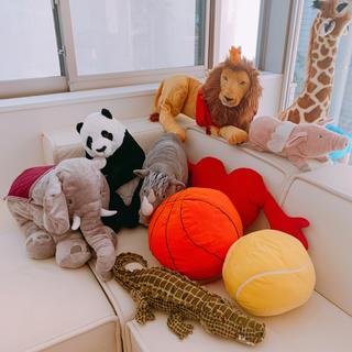 イケア(IKEA)のIKEA🐘ぬいぐるみセット値下↓イケアぞうライオンブタパンダサイワニハート(ぬいぐるみ)