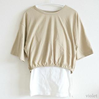 emmi atelier - emmi yoga/Tシャツキャミソールセット/サイズ0BEG
