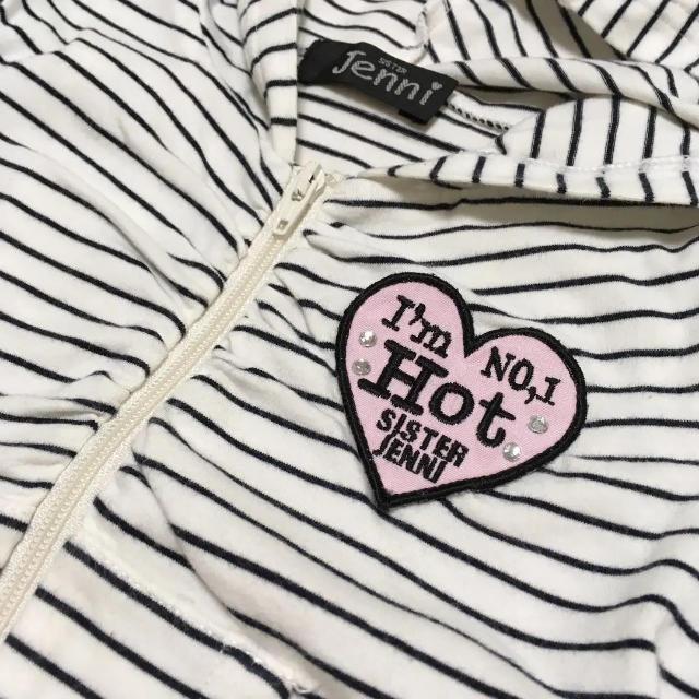 JENNI(ジェニィ)の半袖 パーカー 羽織 上着 アウター ジェニー Jenni 90 キッズ/ベビー/マタニティのキッズ服 女の子用(90cm~)(ジャケット/上着)の商品写真