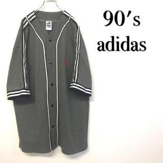 アディダス(adidas)の美品 90's adidas ベースボールシャツ 刺繍ロゴ(Tシャツ/カットソー(半袖/袖なし))