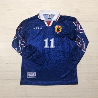 アディダス(adidas)の1997年 日本代表 三浦知良 選手支給 長袖 ユニフォーム 11番 炎モデル(ウェア)