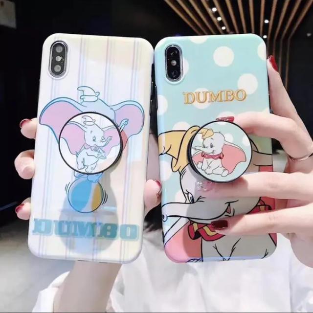 【ダンボiPhoneケース】ボタン付き!大人気の通販 by キラさん|ラクマ