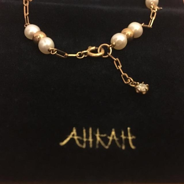 AHKAH(アーカー)のAHKAH 淡水パール ダイヤモンド ブレスレット レディースのアクセサリー(ブレスレット/バングル)の商品写真