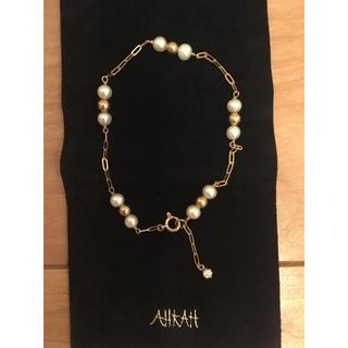 アーカー(AHKAH)のAHKAH 淡水パール ダイヤモンド ブレスレット(ブレスレット/バングル)