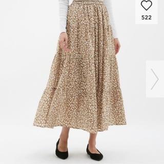 ジーユー(GU)のGU ティアードフレアロングスカート Mサイズ(ロングスカート)