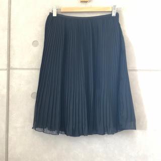 ベルメゾン(ベルメゾン)の黒 プリーツ スカート(ひざ丈スカート)