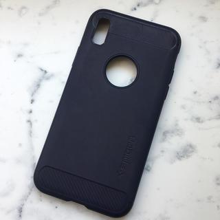Spigen - シュピゲン iPhoneX シリコンケース ネイビー