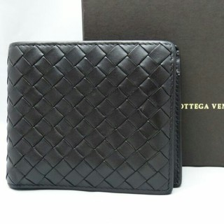 ボッテガヴェネタ(Bottega Veneta)のボッテガヴェネタ 折り財布 イントレチャート カーフレザー(折り財布)