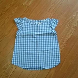 ジーユー(GU)の新品*ギンガムチェックシャツM(シャツ/ブラウス(半袖/袖なし))