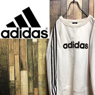 adidas - 【激レア】アディダス☆刺繍ビッグロゴサイドラインラグランスウェット