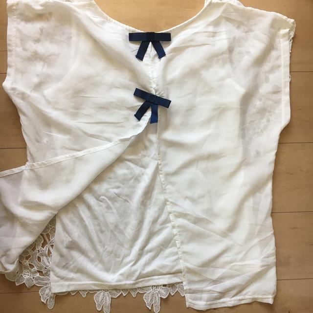 しまむら(シマムラ)のレース トップス レディースのトップス(カットソー(半袖/袖なし))の商品写真