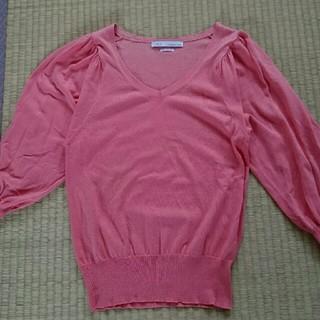 IENA - バルーン袖薄手ニット