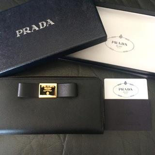 b8ea3405a21c プラダ(PRADA)の新品未使用 プラダラウンドジップ長財布リボンサフィアーノレザー