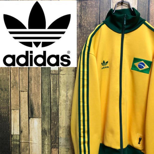 adidas(アディダス)の【激レア】アディダスオリジナルス☆ブラジル刺繍ロゴサイドライントラックトップ メンズのトップス(ジャージ)の商品写真