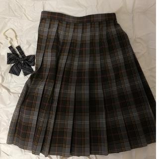 トンボ製 高校制服プリーツスカート リボンセット コスプレ